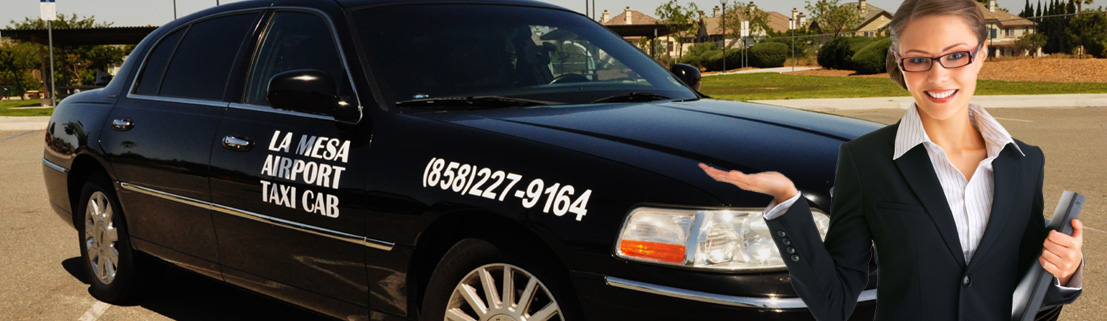 Airport Taxi Cab from La Mesa to San Diego Airport